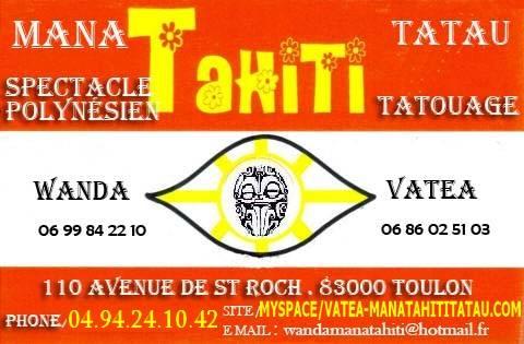 Tahiti En France MANA TAHITI TATAU