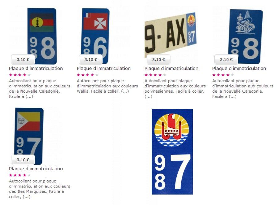 tahiti en france autocollants plaques d 39 immatriculation. Black Bedroom Furniture Sets. Home Design Ideas